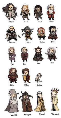 the hobbit dwarves option B (has all characters) for cut outs to hide around the room