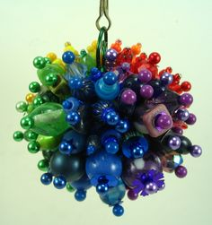 Funky Rainbow Beaded Ball