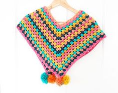 crochet poncho kids FREE Candy Pop Toddlers Poncho Tutorial with Potter&Bloom Candy Pop Toddler Poncho Crochet Baby Poncho, Crochet Poncho Patterns, Crochet Patterns For Beginners, Crochet Blankets, Knitting Patterns, Crochet For Kids, Free Crochet, Irish Crochet, Crochet Ideas