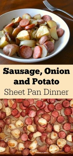 Sausage Onion and Potato Sheet Pan Dinner