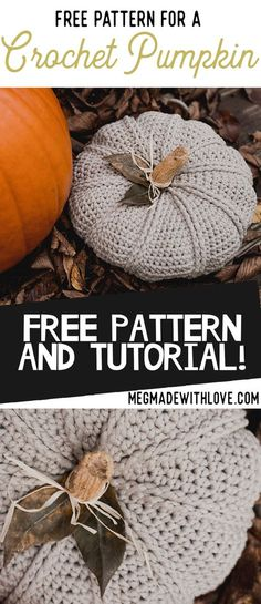 A New Free Crochet Pumpkin Pattern — Megmade with Love Love Crochet, Crochet Gifts, Crochet Flowers, Crochet Toys, Learn Crochet, Diy Crochet, Double Crochet, Halloween Crochet, Holiday Crochet