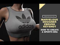Marvelous Designer, Zbrush & Keyshot - How To Create A Sports Bra