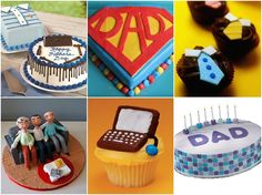 15 Father's Day Cake Ideas Fathers Day Cupcakes, Fathers Day Cake, Gorgeous Cakes, Amazing Cakes, Burger Cupcakes, Party Cupcakes, Tool Box Cake, Special Birthday Cakes, Dad Cake