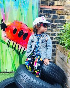 "Mini Medley on Instagram: ""Ziggy is my main man, looking effortlessly cool hanging out in his Mini Medley space llamas and party planets. His talented mama…"" Rainbow Sweater, Rainbow Parties, Small Baby, Striped Fabrics, Baby Feet, Kids Hats, Very Lovely, Baby Size, Men Looks"