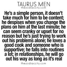 What you need to know about Taurus men. For more zodiac fun facts, click here.