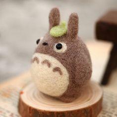 Needle Felt DIY Handmade Woolen Kit Cute Totoro Phone Strap DIY Craft Kit Felten Wool $12.99