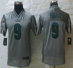 Nike Philadelphia Eagles Jersey 9 Nick Foles 2013 Gray Vapor Elite Kids Jerseys