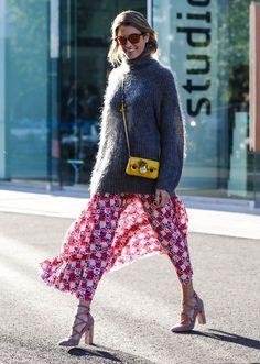 paris fashion week turtleneck sweater street style