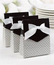 Black Tent Favor Boxes