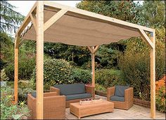 Accordion Shade Canopy Kit - Lee Valley Tools - Includes all required parts and hardware for installation on a wooden structure.