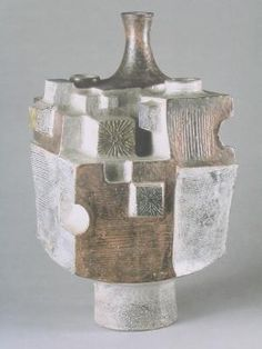 Jean Derval; Glazed Ceramic Vase, 1967. the more I study this, the more amazed I become.