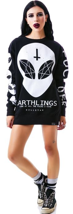 Kill Star Earthlings Sweatshirt | Dolls Kill