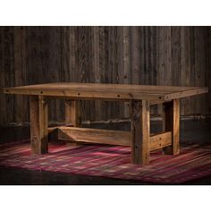 Rustic Mountain Barnwood Farmhouse Trestle Table