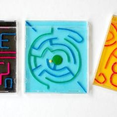 CD Case Mazes.  Now I know what to do with the tons of Bendaroos we have and no one plays with them