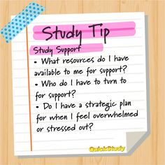 You should make a plan for support during the semester because sometimes you just need a boost from someone or something else. – What resources do you have available for support? – Who do you have to turn to for support, whether academic or personal? Friends? Study groups? Family? A campus counselor? Reach out to people around you at the beginning to form bonds with others who are going through the same thing. – Do I have a strategic plan for when I feel overwhelmed or stressed out? Study Tips For Students, School Study Tips, School Tips, Best Study Tips, Coffee Study, I Feel Overwhelmed, High School Hacks, Reading At Home, Time Management Skills