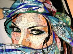Amazing Mosaic work by Carole Choucair Oueijan Pebble Mosaic, Mosaic Glass, Glass Art, Mosaic Crafts, Mosaic Projects, Mosaic Portrait, Mosaic Artwork, Mosaic Pieces, Mosaic Designs