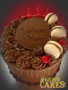 👌 Perfect Chocolate Cake! To Celebrate those perfect family gatherings! #welcomehome #chocolatecake #makeawishcakes