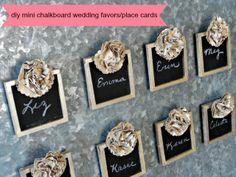 Serendipity Vintage Studio: DIY Mini Chalkboard Wedding Favors #craftbasics