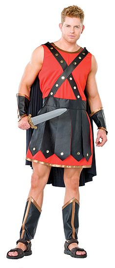 Gladiator Costume includes tunic cape faux leather skirt and chest straps wrist cuffs and leg guards  sc 1 st  Pinterest : leather gladiator costume  - Germanpascual.Com