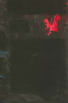 Homage to Rothko - Red & Blue on Black