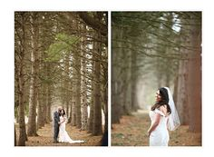 Congrats to Lisa and Louis!!  Photo courtesy of Monika Broz Photography.  #rusticwedding #pinetrees #peronafarms