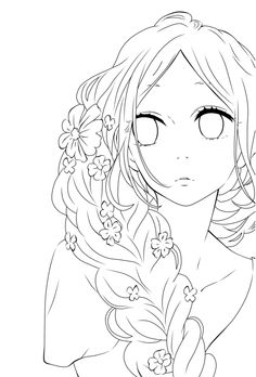 Anime manga colouring pages Cute Coloring Pages, Disney Coloring Pages, Adult Coloring Pages, Coloring Books, Anime Drawings Sketches, Anime Sketch, Manga Drawing, Amazing Drawings, Cool Drawings