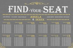 Wedding seating chart weddings black tie to bbq pinterest