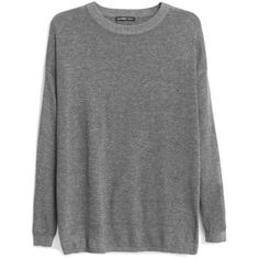 Oversize Cotton Sweater (45 ILS) ❤ liked on Polyvore featuring tops, sweaters, shirts, jumpers, clothes - tops, oversized cotton shirts, mango sweater, ribbed sweater, long sleeve tops and long sleeve jumper