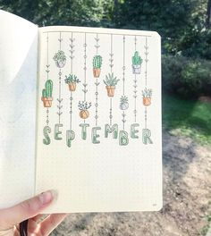 september bullet journal - Brenda O. hello september bullet journal -hello september bullet journal - Brenda O. hello september bullet journal - ig beautiful bullet journal cover incredible cactus spreads for May Bullet Journal Cover Ideas, Bullet Journal 2020, Bullet Journal Aesthetic, Bullet Journal Notebook, Bullet Journal Spread, Journal Covers, Bullet Journal Inspiration, Bullet Journal September Cover, Bullet Journal Months