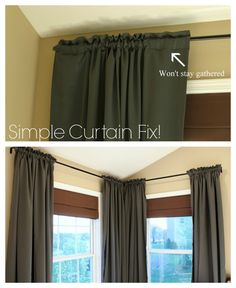 For living room curtains that won't stay open. Or put double-sided tape on the rod.