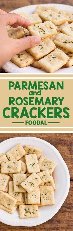 If you've never tried making your own homemade crackers before, you'll be amazed at how simple it is to do. These homemade Parmesan and rosemary crackers are cheesy, crispy, and incredibly addictive – so good you won't eat store-bought ones again! Get the recipe from Foodal now and bake a batch today!