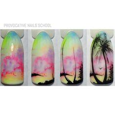 МК Beach Nail Art, Beach Nails, Sharpie Nail Art, Gel Nail Art, Sharpie Designs, Nail Art Designs, Plage Nail Art, Violet Pastel, Sculpted Gel Nails