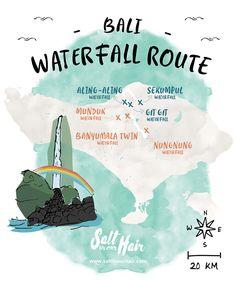The most beautiful Bali Waterfall Route