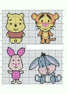 66 Trendy Embroidery Ideas For Gifts Cross Stitch Disney Cross Stitch Patterns, Cross Stitch Designs, Beaded Cross Stitch, Cross Stitch Embroidery, Cross Stitch Baby, Beading Patterns, Embroidery Patterns, Graph Paper Art, Stitch Cartoon