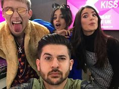 Camila Cabello and Machine Gun Kelly at the KISS FM UK