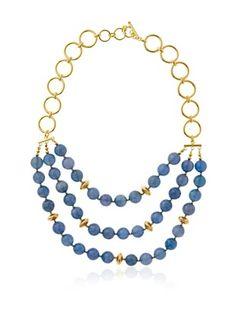 73% OFF Jardin Three Strand Chalcedony Necklace