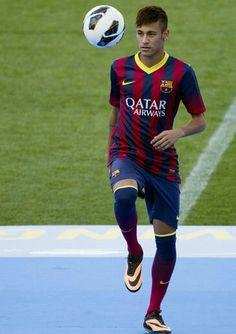 Neymar Jr presentado con el Barcelona FC