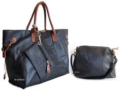 GFM Three in One Bag : A Large Tote Bag + A Medium Shoulder Bag + 1 Small Purse (3 in 1): Amazon.co.uk