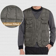 Tactical Functional Vest Multi Pocket Outdooors Photography at Banggood Sleeveless Coat, Height And Weight, Fashion Watches, Vest, Mens Fashion, Warm, Pocket, Fishing, Photography