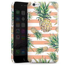 Pineapple Stripes für Premium Case (glänzend) für Apple iPhone 6 von DeinDesign™