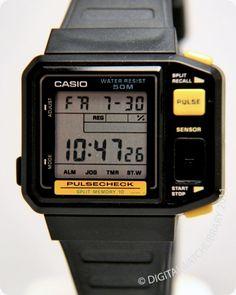 Casio JP-100W Module 509 Released 1987 Retro Watches, Men's Watches, Vintage Watches, Watches For Men, Casio Vintage Watch, Casio Watch, Retro Phone, Digital Watch, Clothing