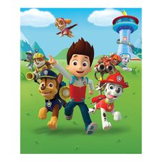 Official Paw Patrol merchandise Transform your room with this designer wallpaper mural Mural is made up of eight panels for easy application