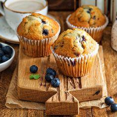 Schneller, saftige Low Carb Blaubeer-Muffins