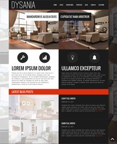 This interior design and furniture WordPress theme comes with 20 page templates, WPML support, a premium gallery plugin, a responsive layout, a working contact form, custom jQuery and CSS3 animations, and more.