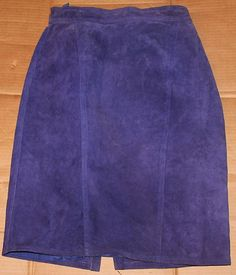 Purple Seude Skirt  vintage  check it out