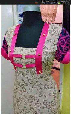 I would like to do this on a belt! Chudidhar Neck Designs, Salwar Neck Designs, Neckline Designs, Blouse Designs, Stylish Dresses, Simple Dresses, Gala Design, Kurti Embroidery Design, Frocks For Girls