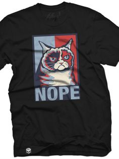 """Men's """"Grumpy Cat Presidential Poster"""" Tee by Fifty5 Clothing (Black)"""