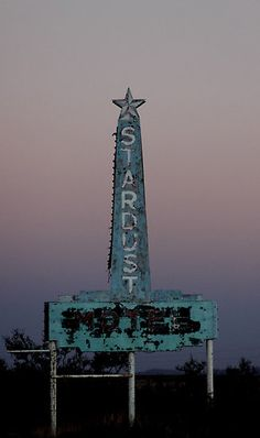 Stardust Motel neon sign - Marfa, Texas