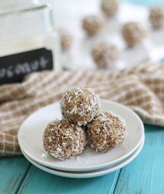 Coconut nut balls: Paleo snack balls made with an assortment of nuts and lots of coconut