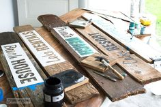 How to make your own old beach and lake signs! By Funky Junk Interiors for Ebay